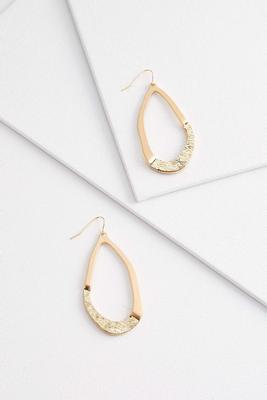 glittered tear shape earrings