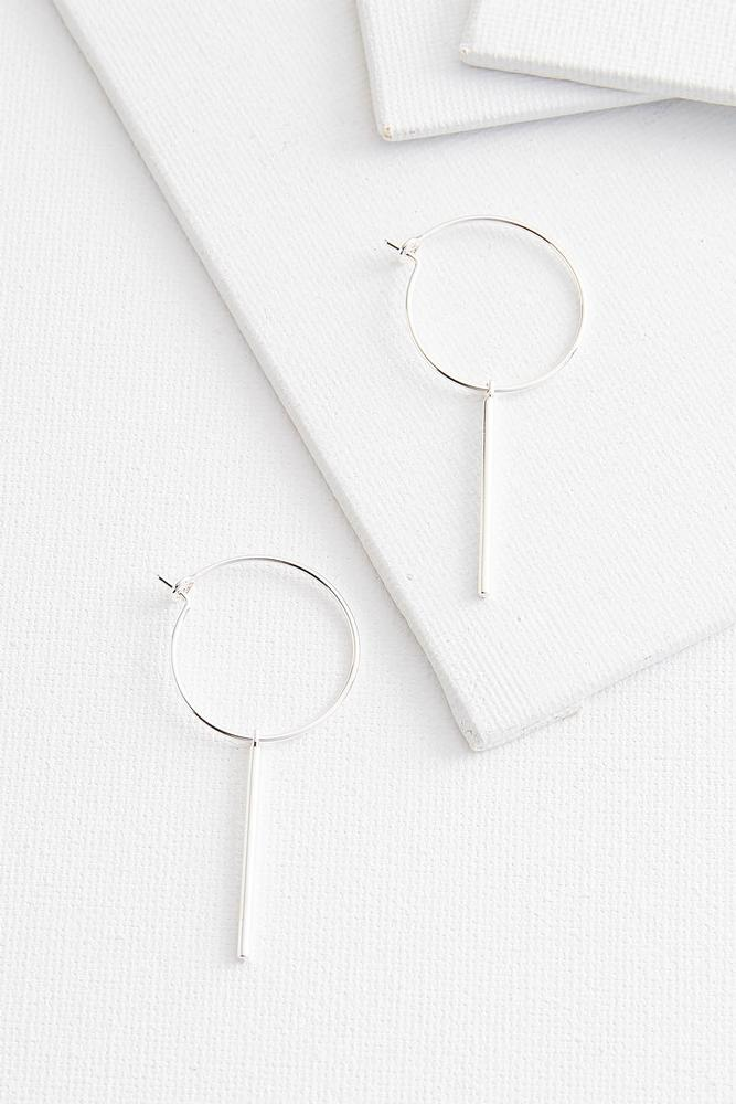 Dangling Bar Hoop Earrings