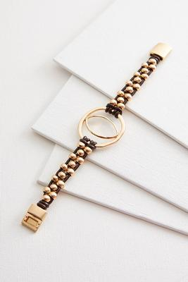 woven faux leather bracelet