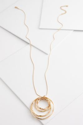 wavy circle pendant necklace
