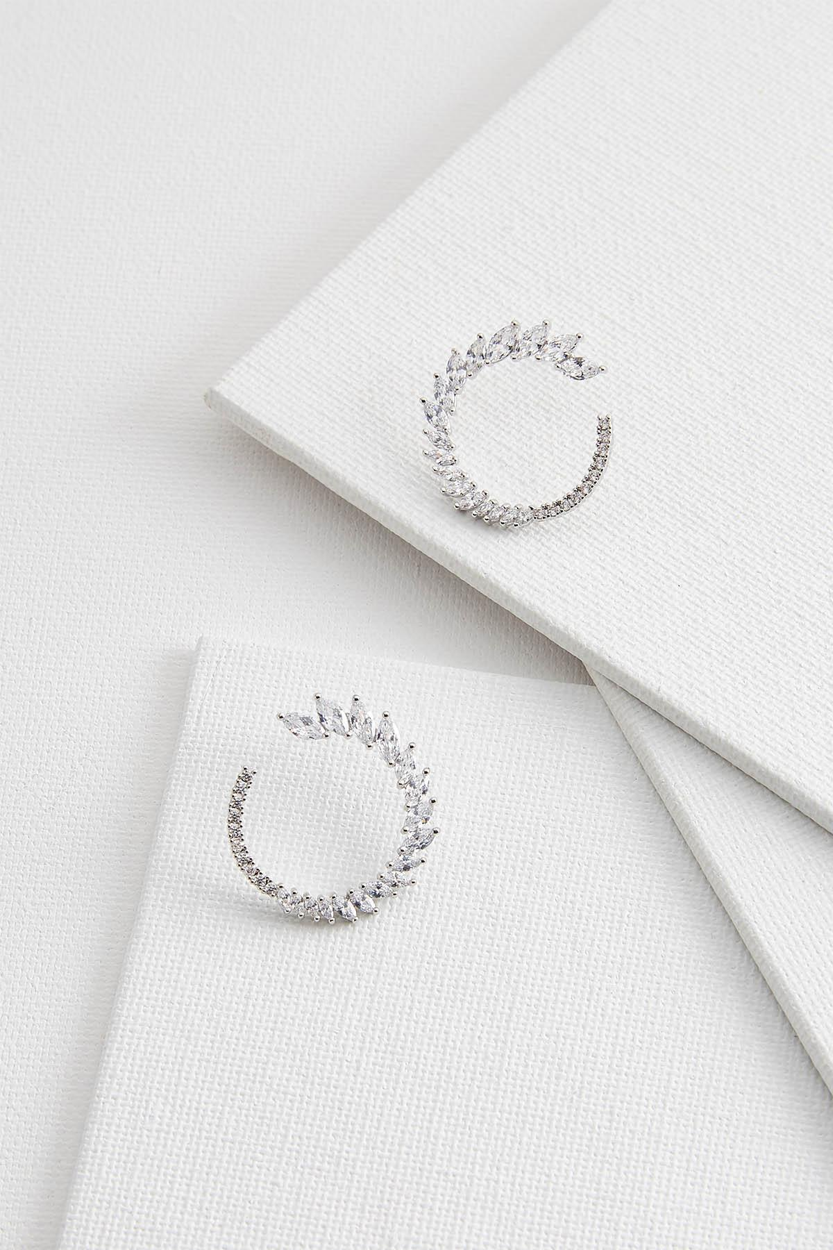 Marquise Stone Hoop Earrings