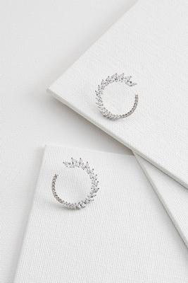 marquise stone hoop earrings