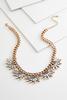 Stone Petal Bib Necklace
