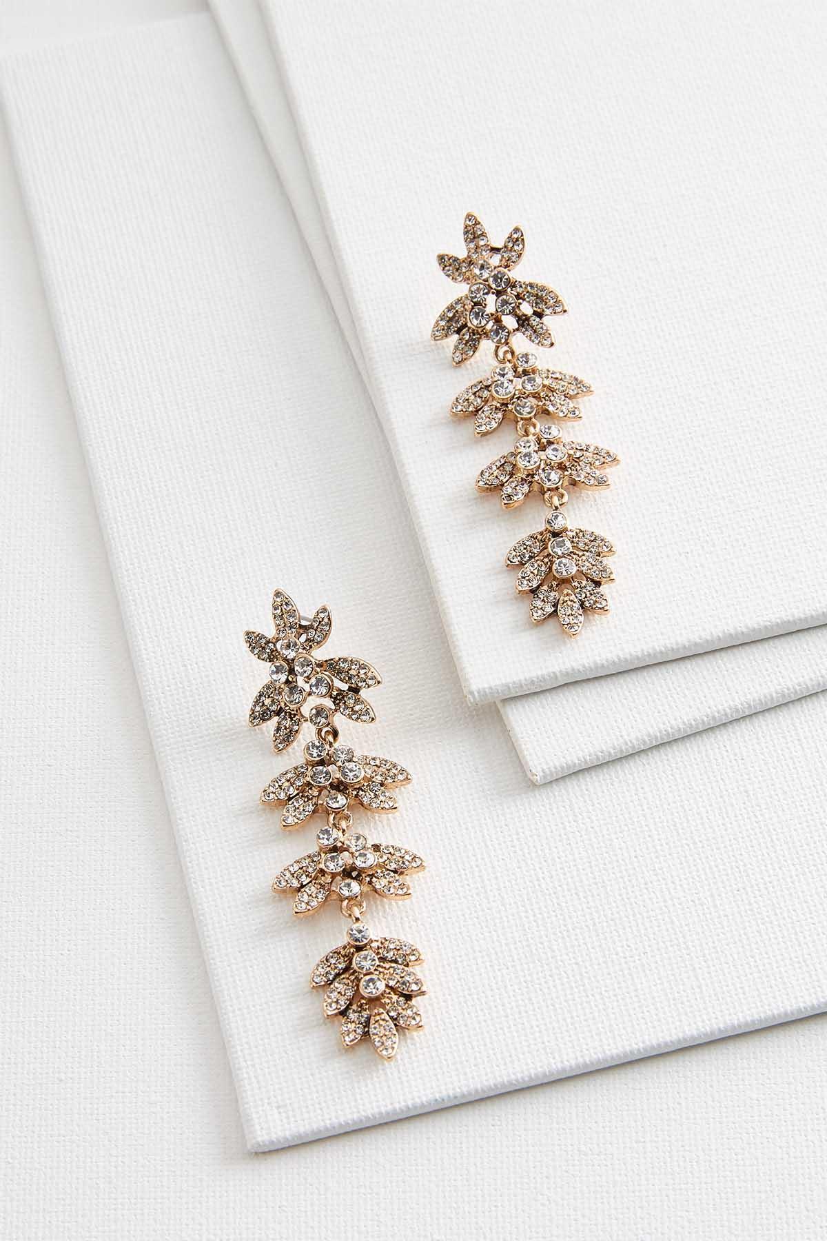 Floral Stone Earrings