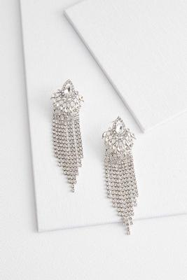 deco stone fringe earrings