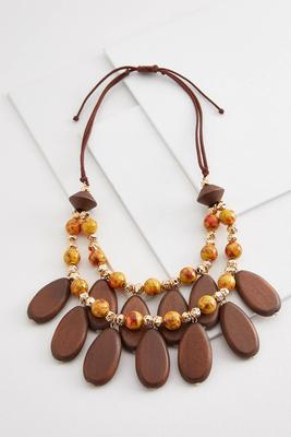 tribal vibes cord necklace
