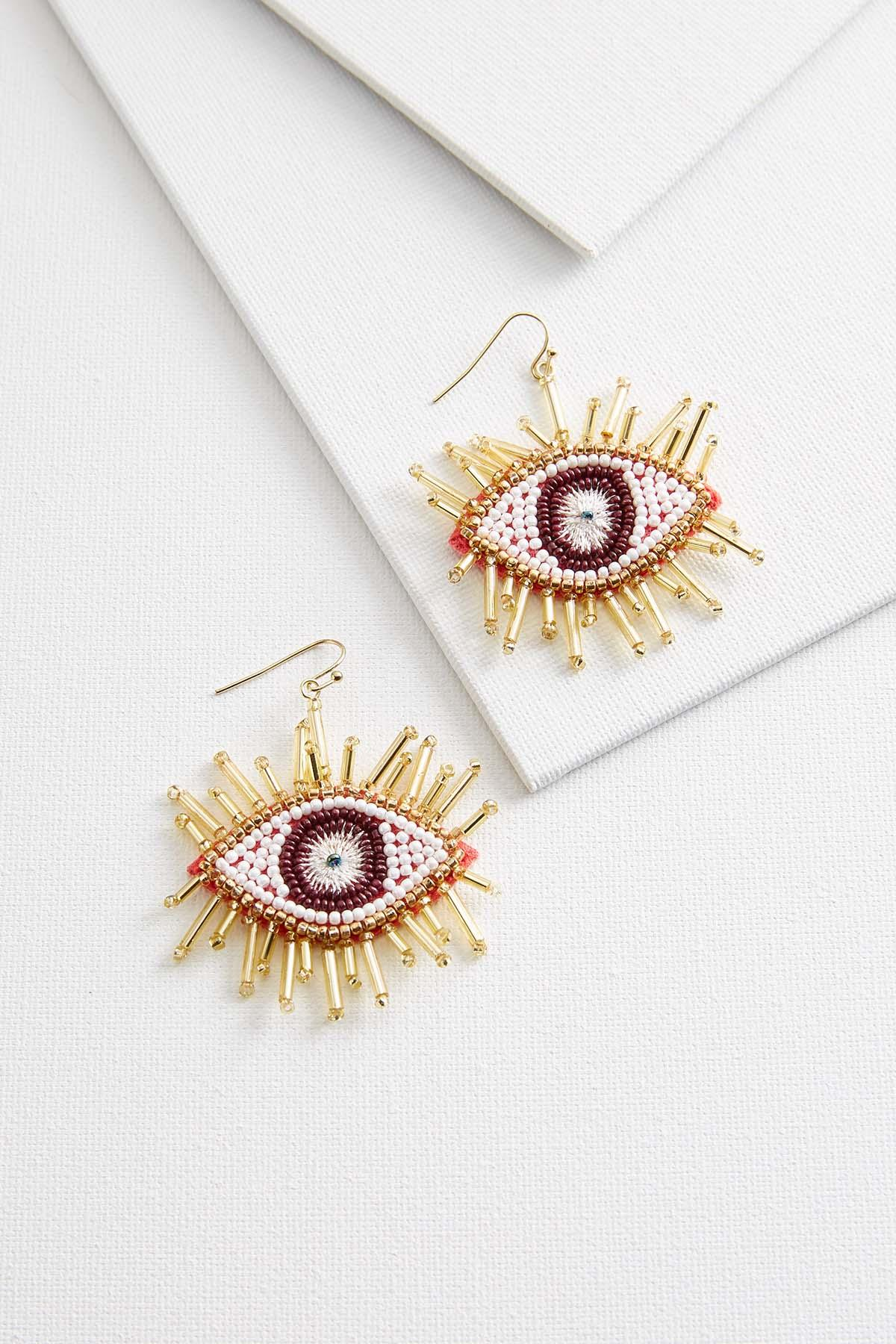 Beaded Eye Earrings