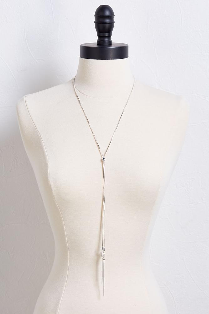 Slider Bar Y- Necklace