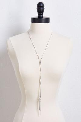 slider bar y-necklace