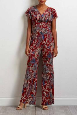 all the feels floral jumpsuit