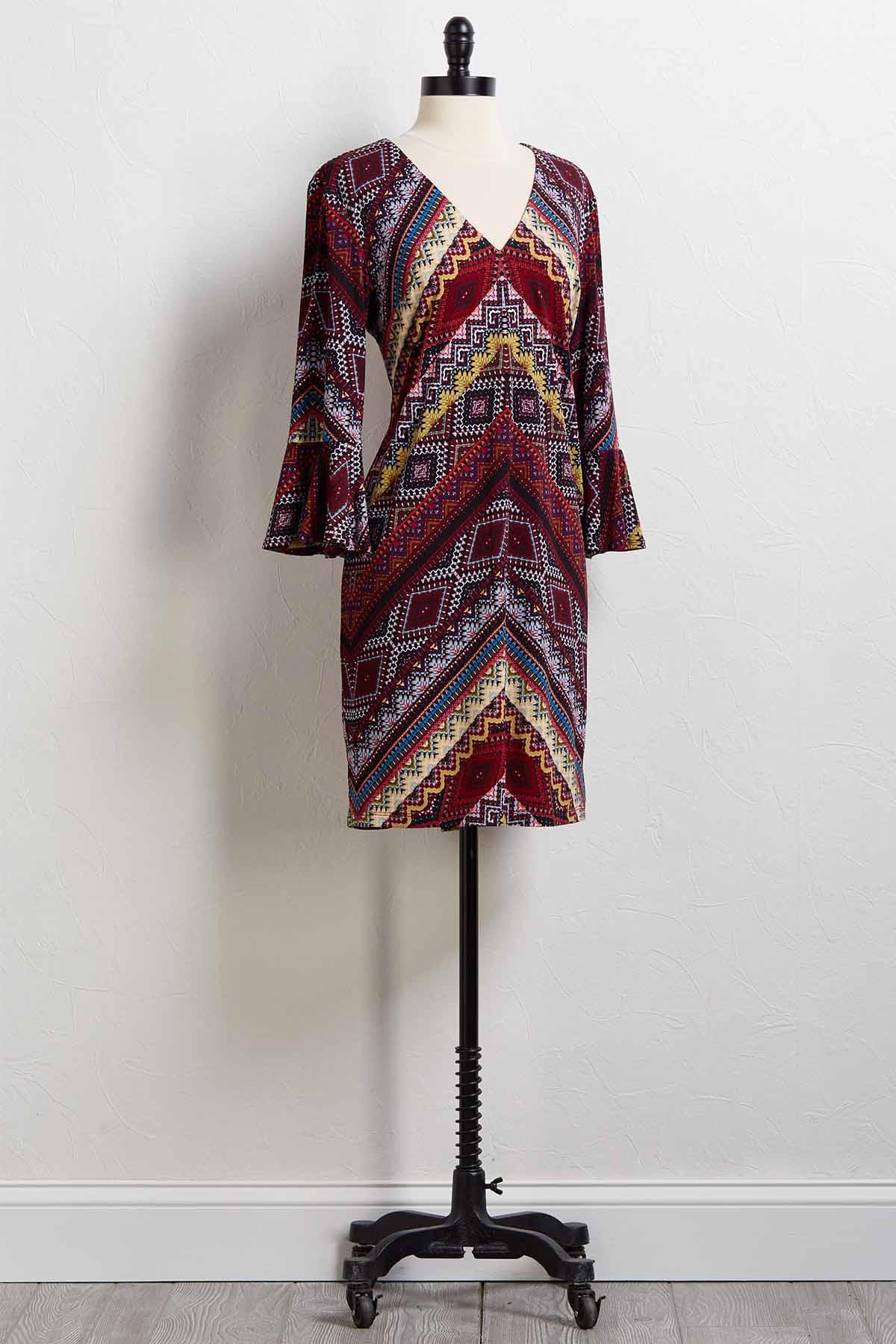 Chevron And On Dress