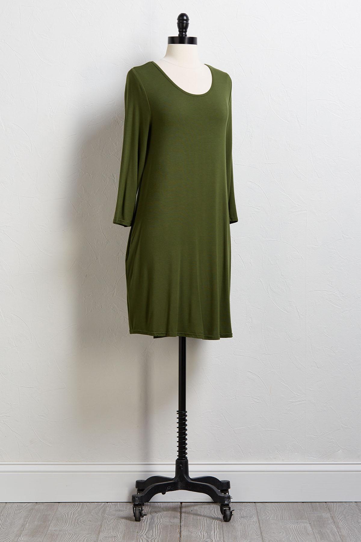 Green Tee Please Shirt Dress