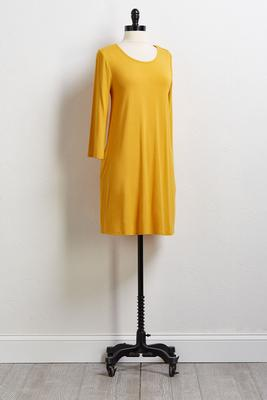 yellow swing tee dress