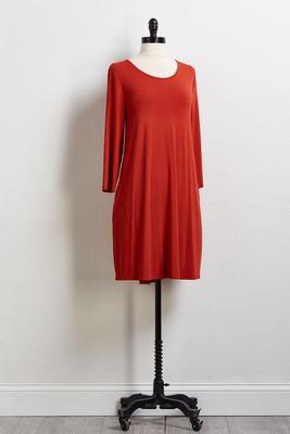 rust swing tee dress