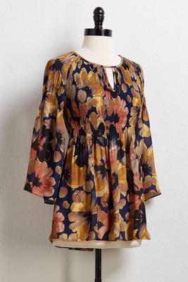 pretty pleats floral top