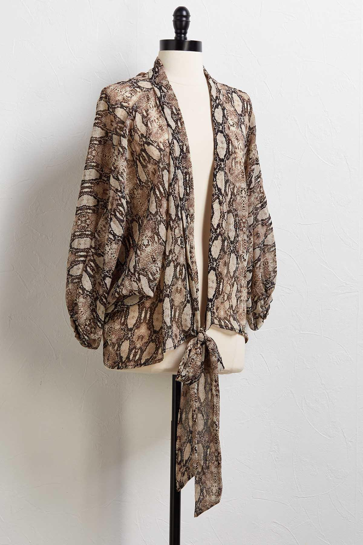Show Some Skin Tie Front Cardi
