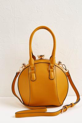ball shaped yellow handbag