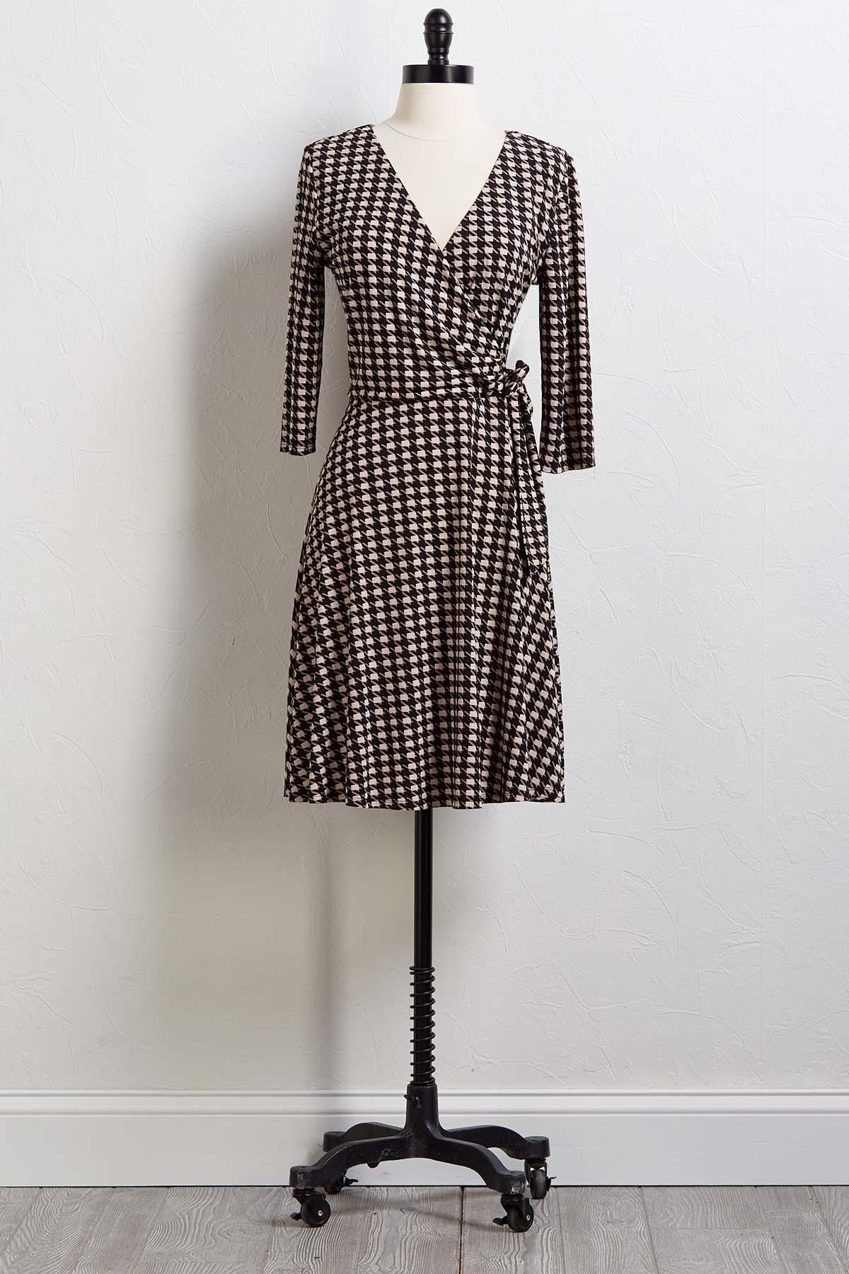Houndstooth Or Dare Dress