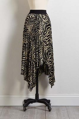 zebra midi skirt
