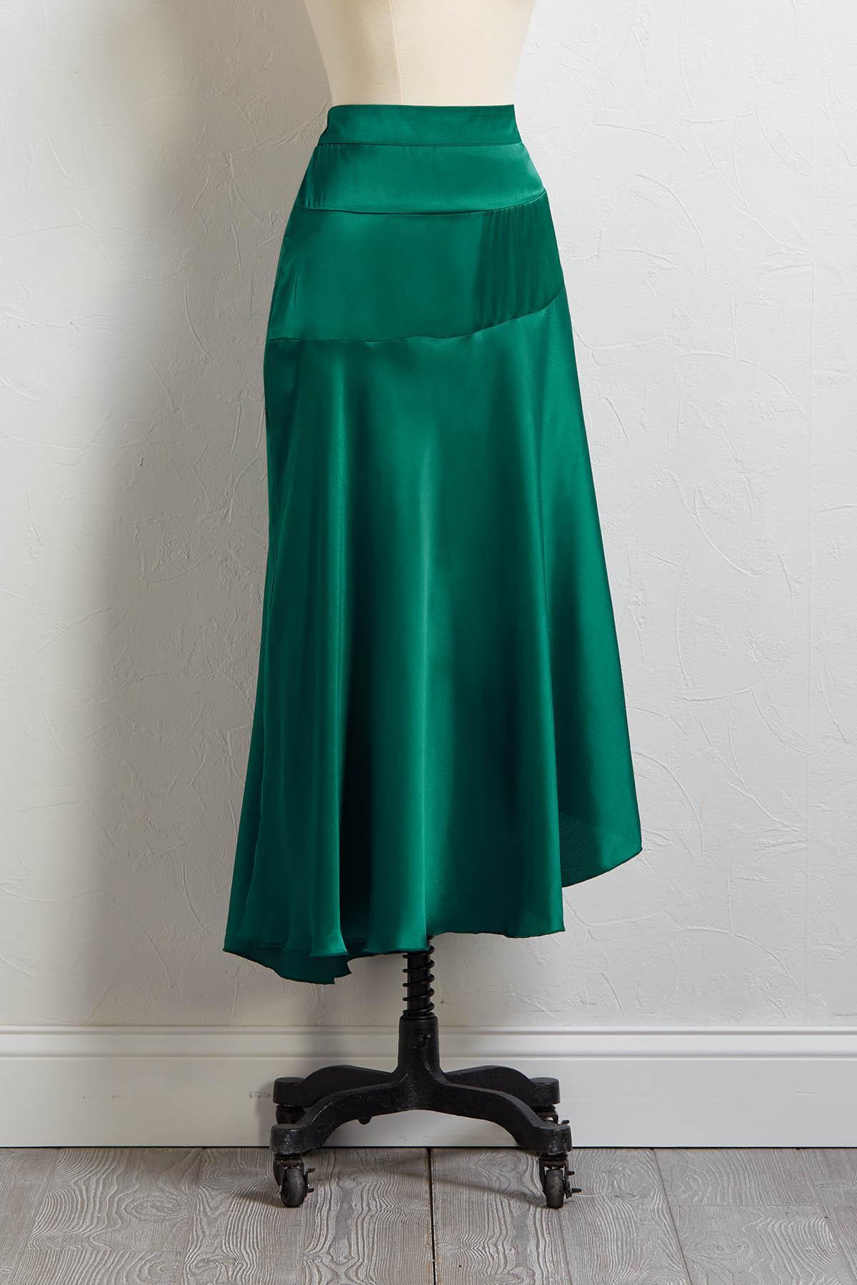 Make It Satin Skirt