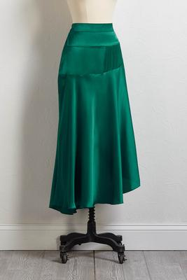 make it satin skirt