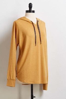 leopard hoodie tunic