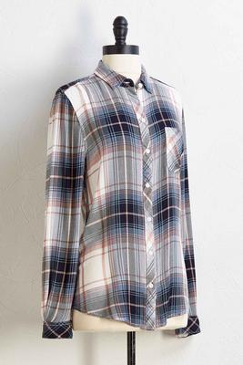 blue jean baby plaid shirt