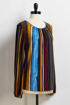 paintbrush stripe top