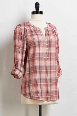 haley plaid top