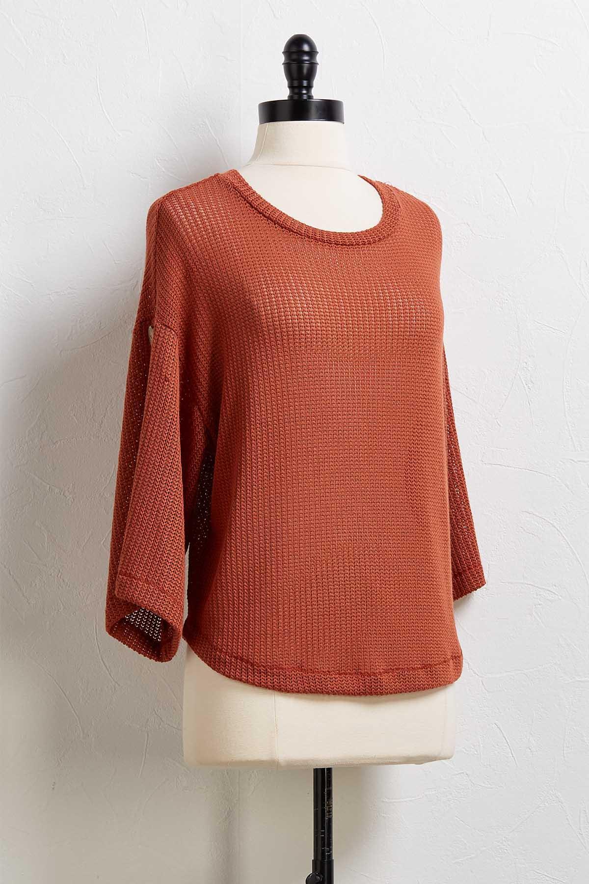 Caramel Button Sweater