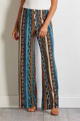 paisley stripe palazzo pants