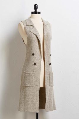 knit blazer vest