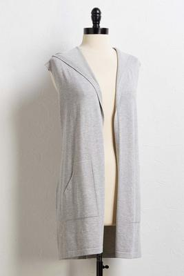 hooded pocket vest