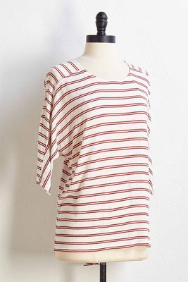 stripe right tee