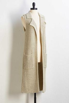 chunky knit vest