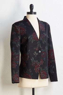 fall floral blazer