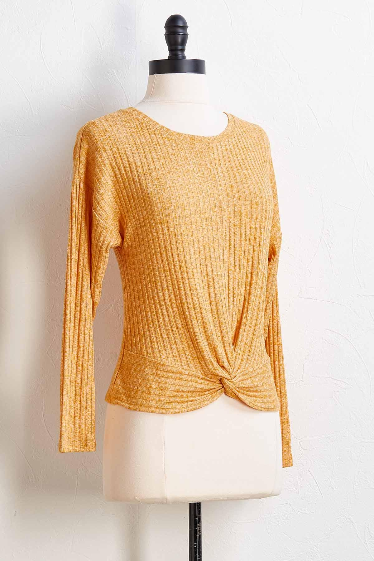 Ribbed Twist Top