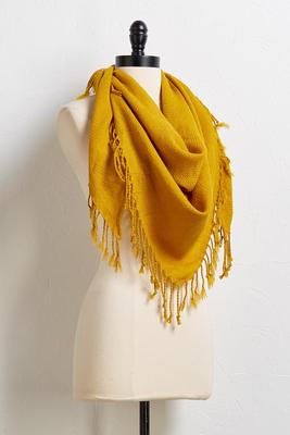 sunflower fringe scarf