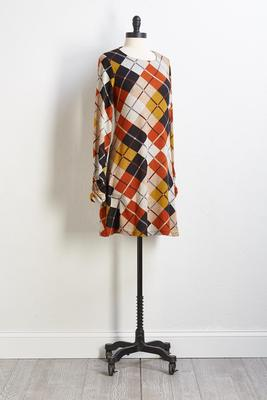 plaid swing dress
