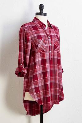 zinfandel plaid top