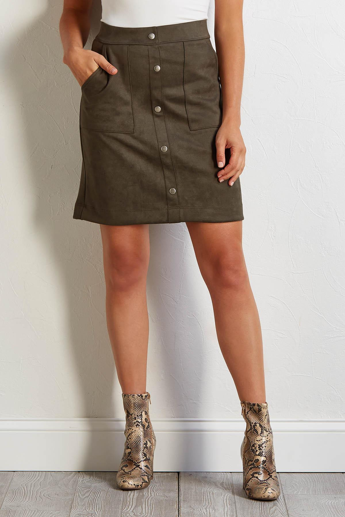 Suede To The Rhythm Skirt