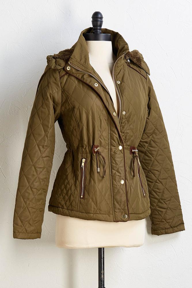 Fur Lined Puff Coat