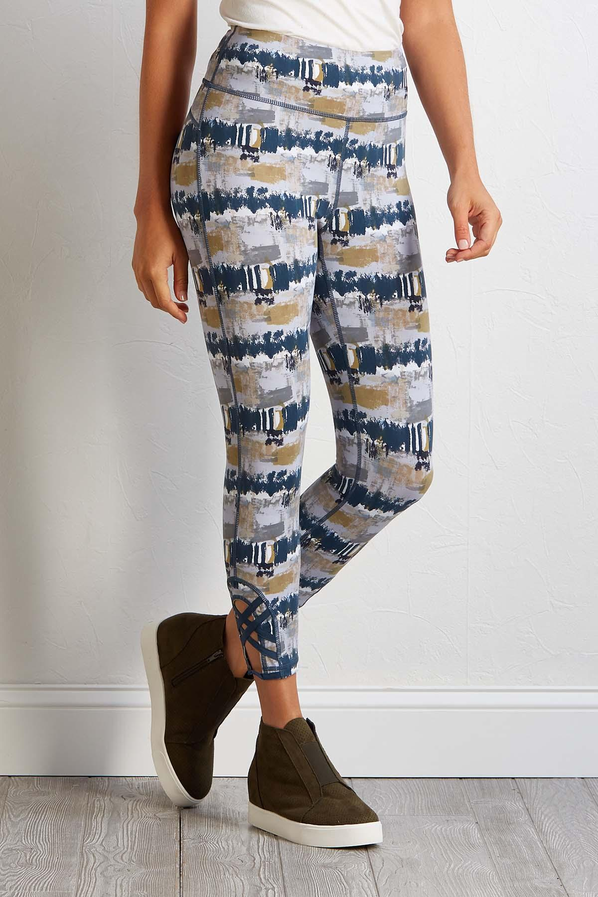 Abstract Active Leggings