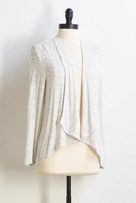 endless stripe cardigan