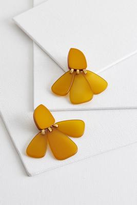 lucite petal earrings