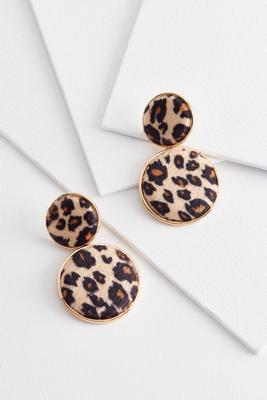double leopard earrings