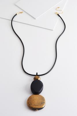 statement stone pendant necklace