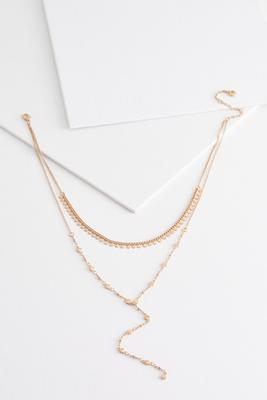layered disk dainty necklace
