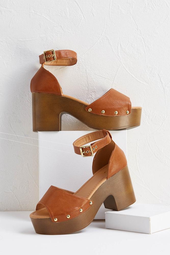 Knock On Wood Platform Heels