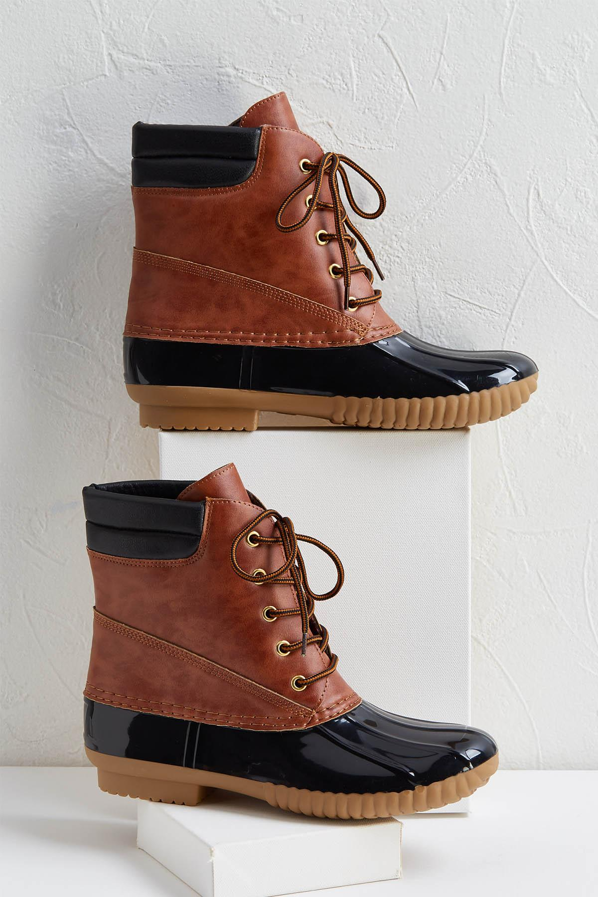 Two- Tone Duck Boots